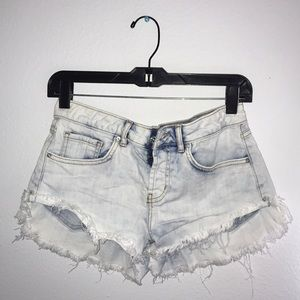 Bleach dyed Short shorts 🎀